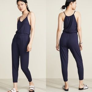 NEW Wildfox Zoe navy jumpsuit size large